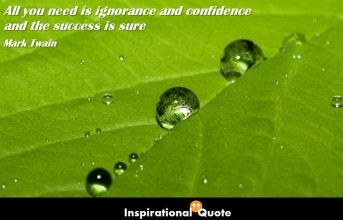 Mark Twain – All you need is ignorance and confidence and the success is sure
