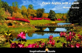 Mother Teresa – Peace begins with a smile