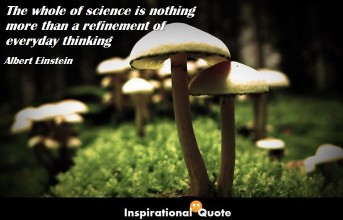 Albert Einstein – The whole of science is nothing more than a refinement of everyday thinking