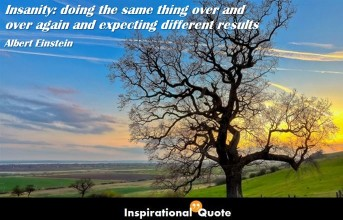 Albert Einstein – Insanity: doing the same thing over and over again and expecting different results