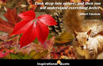 Albert Einstein – Look deep into nature, and then you will understand everything better