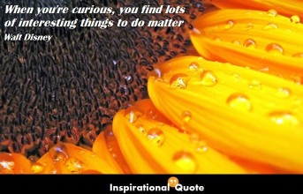 Walt Disney – When you're curious, you find lots of interesting things to do