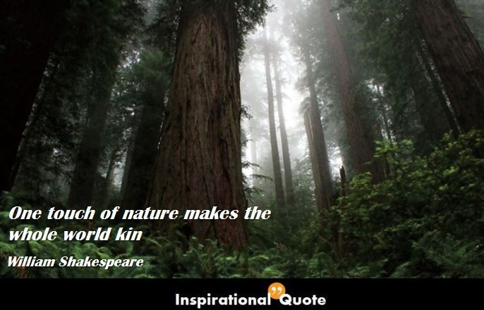 William Shakespeare – One touch of nature makes the whole world kin